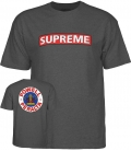 T-shirt Supreme Heather Grey - Powell Peralta