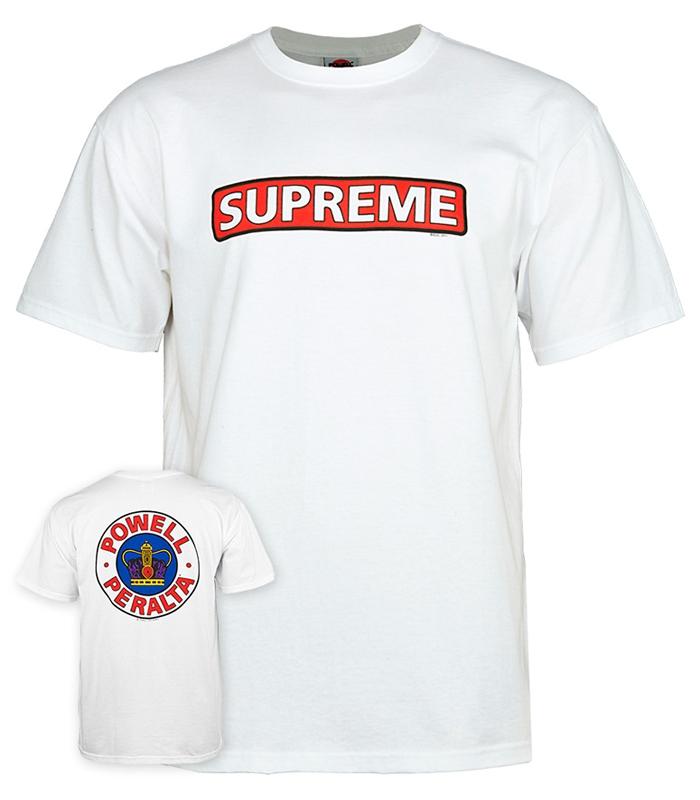 t-shirt supreme white - powell peralta