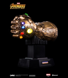 ENCEINTE BLUETOOTH MARVEL - GANT DE L'INFINI THANOS (BRONZE)
