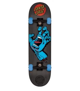 "Santa Cruz 7.25"" x 29,9"" Mid Screaming Hand Skateboard Complete"