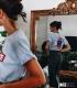 T-shirt Supreme Powder blue - Powell Peralta