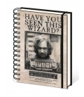 Carnet A5 Harry Potter Wanted Sirius Black
