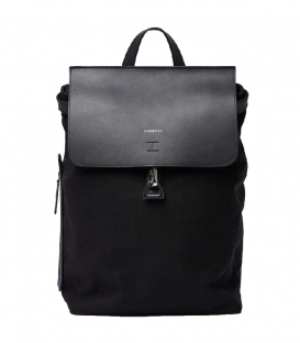 Sandqvist Alva Black Backpack with black metal hook