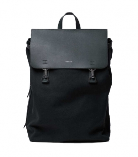 Sandqvist Hege Black Backpack with Black Metal Hook