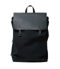 Sandqvist Hege Black Backpack with Black Metal Hook