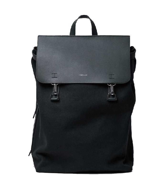 parhaiten rakastettu halvin hinta yksityiskohtaiset kuvat Sandqvist Hege Black Backpack with Black Metal Hook