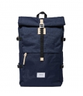 Sandqvist Bernt Navy Backpack with Natural Leather
