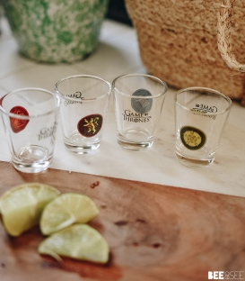 Pack de 4 verres à shot Game of Thrones