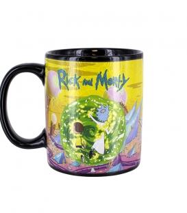 Rick and Morty Portals Heat Change Mug