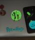 Stickers phosphorescents Rick & Morty