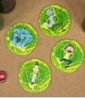 Dessous de verre 3D Rick & Morty