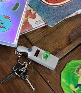 Bright Gun Portal Key Ring Rick & Morty