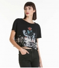 Obey Political Graffiti Crop Tee