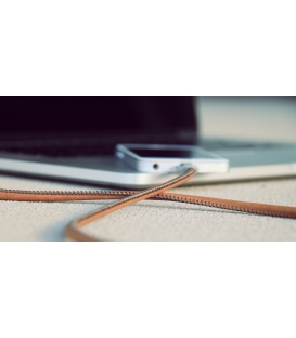 LIFESTAR Apple MFI Cable Leather Vintage Tan Lightning 1m