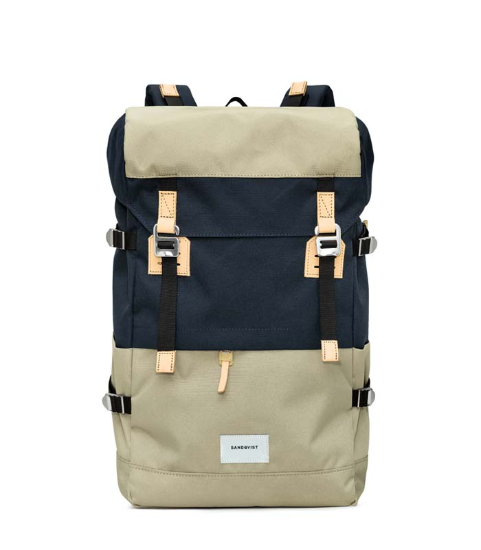 Sandqvist Harald Multi Beige Blue Backpack
