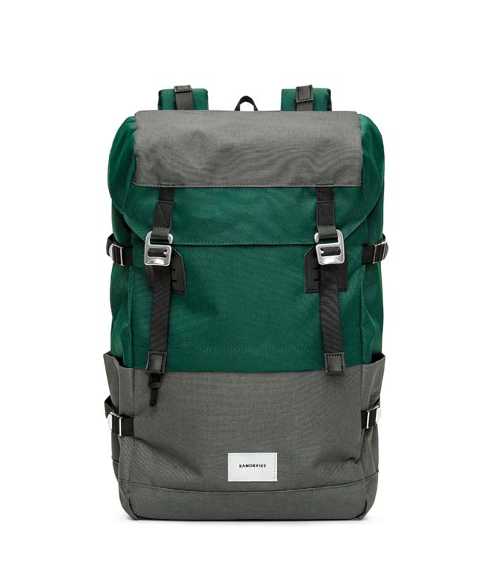Sandqvist Harald Multi Deep green dark grey backpack